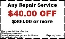 repair service coupon